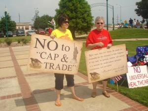 A popular sentiment at the TEA Party-No Cap and Trade!