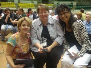 The ladies of the Cross Section: Beth Frederick, Shelly Robbins, and Bea McDonald